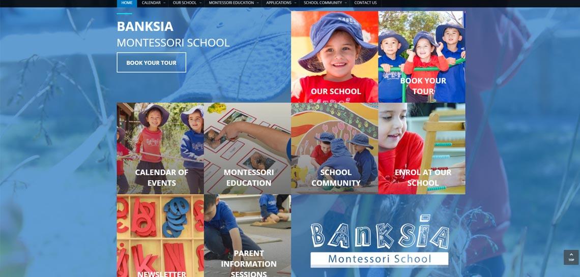 Banksia Montessori School Website Pineapple Planet